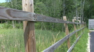 Rural Wooden Fence Stock Footage