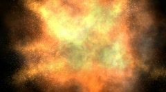 Big Aerial Explosion (with Alpha) - stock footage