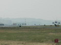 Airplane Taking off at the Ronald Reagan Washington National Airport 01 Stock Footage