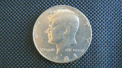 US 50 Cents Coin - Heads - stock footage