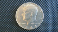 Stock Video Footage of US 50 Cents Coin - Heads
