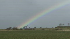 Rainbow, winter wheat in spring gale 1 Stock Footage