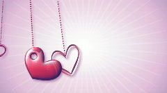 Love heart lockets Stock Footage