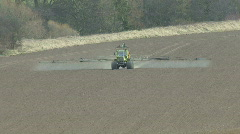 Crop sprayer 4 front view - stock footage