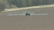 Crop sprayer 4 front view Stock Footage