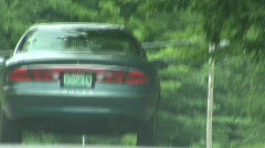 Dramatic Car On Rural Road Stock Footage