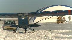 Aircraft, fleet canuck aircraft starts and idles Stock Footage