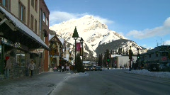 Banff town  Stock Footage