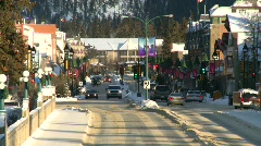 Banff town icon shot, #9 zoom back Stock Footage