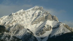 Banff town icon shot, #7 from Mt Cascade zoom back Stock Footage