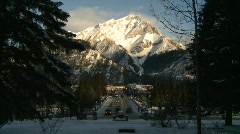 Banff town icon shot, #3 Stock Footage