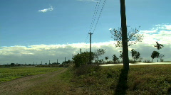 Electric poles Stock Footage