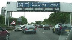 Glasgow motorway trafic Stock Footage