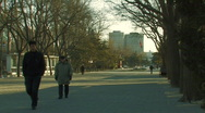 Entrance to Ritan Park in Beijing, China Stock Footage