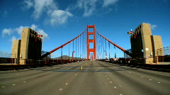 Driving the golden gate bridge Stock Footage