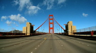 Stock Video Footage of Driving the golden gate bridge