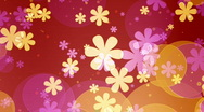 Stock Video Footage of retro flowers and dots looping background