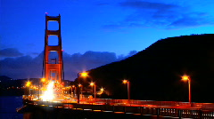 Traffic on the golden gate bridge Stock Footage