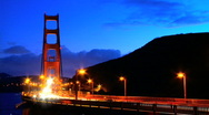 Stock Video Footage of Traffic on the golden gate bridge