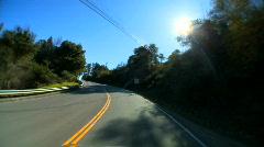 Cabrillo highway Stock Footage