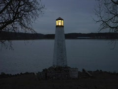 Small Lighthouse Stock Footage