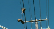 Stock Video Footage of boots on powerlines