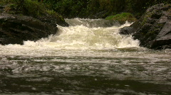 Andean river after heavy rain Stock Footage