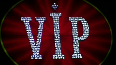 Vip neon light casino Stock Footage