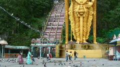 Lord Murugan, Batu Caves, Kuala Lumpur (tilt) - stock footage