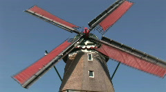 Old dutch windmill Stock Footage