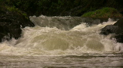 Andean river after heavy rain - stock footage