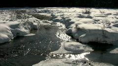 Frozen winter creek Stock Footage
