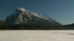 Mt Rundle, Banff Stock Footage