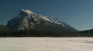 Stock Video Footage of Mt Rundle, Banff