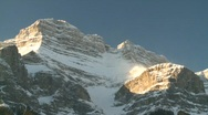 Stock Video Footage of snow covered mountain and forest, Banff, #16