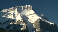 Stock Video Footage of snow covered mountain and forest, Banff, #13