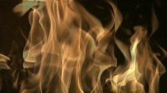 Flames Coming from Burning Logs Stock Footage