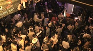 Stock Video Footage of Overhead View of Street Party with People at Night