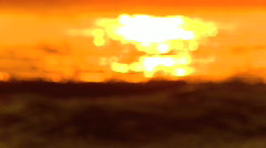 Surf at sunset Stock Footage