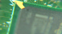 Circuit board pan with pin head Stock Footage