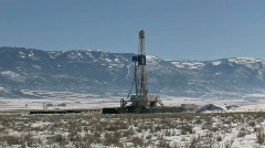 Oil drilling mountain M HD Stock Footage