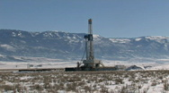 Stock Video Footage of Oil drilling mountain M HD