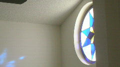 Blue Star Stain Glass 02 Stock Footage
