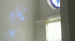 Blue Star Stain Glass 03 Stock Footage