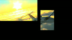 Multi-images of business & aviation Stock Footage