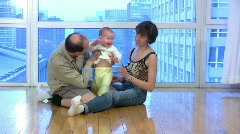 Happy family 21 Stock Footage