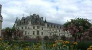 Stock Video Footage of Chenonceau Castle in the Loire Valley France