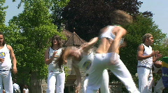 Two Capoeira Dancers in a Duel - stock footage