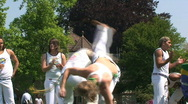 Stock Video Footage of Two Capoeira Dancers in a Duel