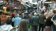 Stock Video Footage of Hacarmel market in Tel Aviv, Israel